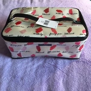 Kate Spade Large Colin Lipstick Print Makeup Bag